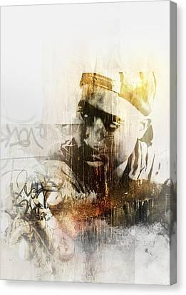 Jay Z Canvas Print - Tupac 121 by Jani Heinonen