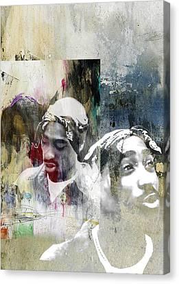 Tupac 122 Canvas Print by Jani Heinonen