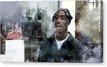 Jay Z Canvas Print - Tupac 3476 by Jani Heinonen