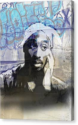 Jay Z Canvas Print - Tupac Graffitti 21 by Jani Heinonen