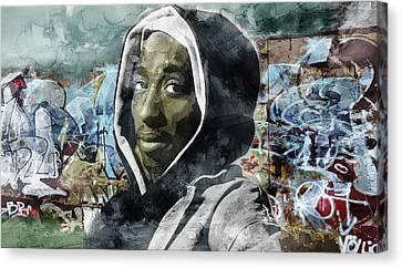 Tupac Graffitti 7 Canvas Print