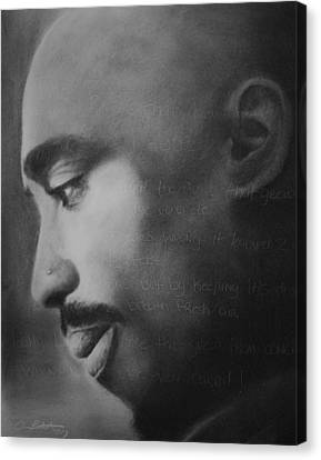 Tupac Rose Canvas Print