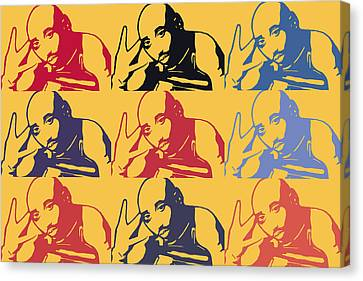 Tupac Shakur Graffiti In Andy Warhol Style Canvas Print by Tommytechno Sweden