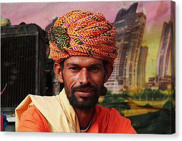 Turbanned Man Canvas Print by Mohammed Nasir