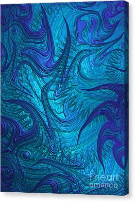 Metalic Canvas Print - Turbulence by John Edwards