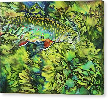 Trout Canvas Print - Turbulent Trout by Lacey Hermiston