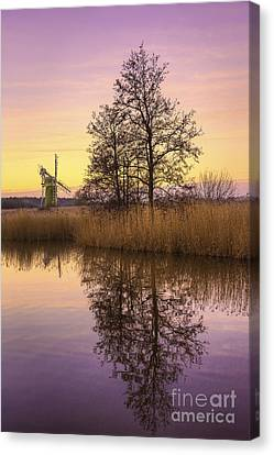 Turf Fen Mill At Sunrise Canvas Print