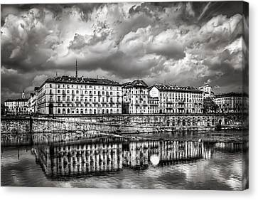 Turin Shrouded In Cloud Canvas Print by Carol Japp