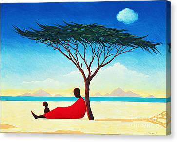 Calming Canvas Print - Turkana Afternoon by Tilly Willis