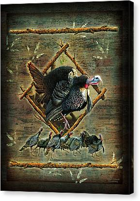 Turkey Lodge Canvas Print by JQ Licensing
