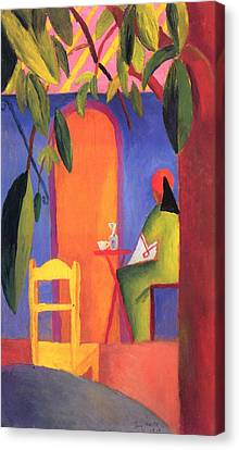 Turkish Cafe II Canvas Print by August Macke