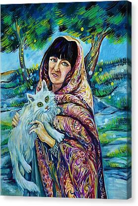 Turkish Cat Canvas Print by Anna Duyunova