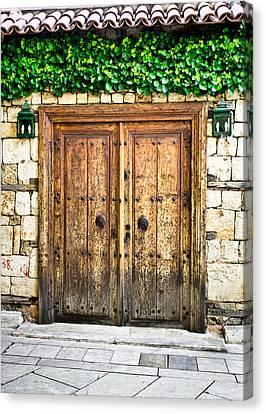 Medieval Entrance Canvas Print - Turkish Door by Tom Gowanlock