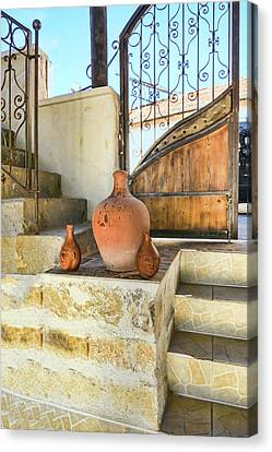 Turkish Doorway With Urns Canvas Print by Phyllis Taylor