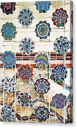 Turkish Pottery Canvas Print by Tom Gowanlock