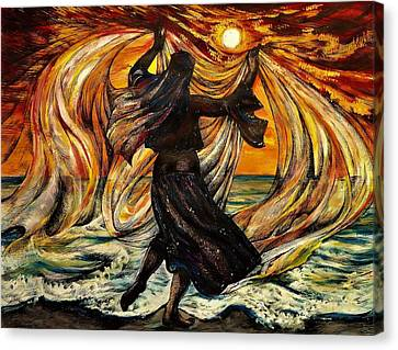 Turkish Sunset Canvas Print by Anna Duyunova