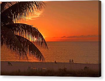 Turks And Caicos Sunset Canvas Print by Stephen Anderson