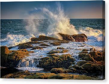 Explosion Canvas Print - Turmoil At Pemaquid Point by Rick Berk