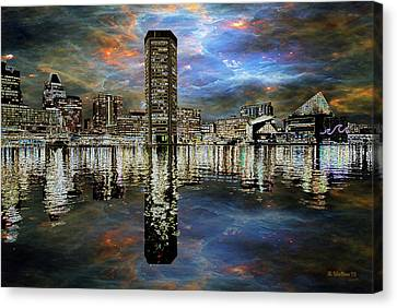 Turmoil In The City Canvas Print by Brian Wallace