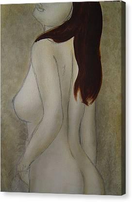 Turn To Me Canvas Print by Bridgette  Allan
