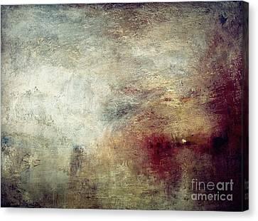 Turner: Sun Setting, C1840 Canvas Print by Granger