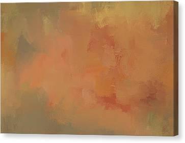 Turning Autumn Abstract Painting Canvas Print by Jai Johnson