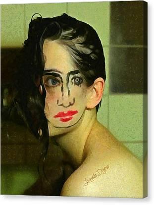 Turning Face - Da Canvas Print by Leonardo Digenio
