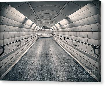 London Tube Canvas Print - Turning Point by Evelina Kremsdorf