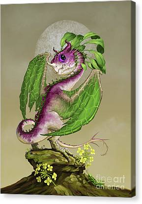 Canvas Print featuring the digital art Turnip Dragon by Stanley Morrison