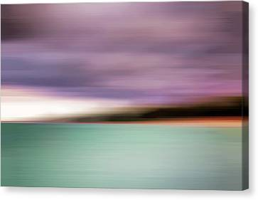 Canvas Print featuring the photograph Turquoise Waters Blurred Abstract by Adam Romanowicz