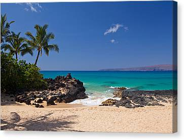 Turquoise At Secret Beach Makena Canvas Print