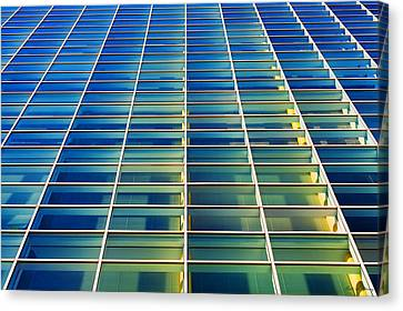 Turquoise Building Canvas Print by Todd Klassy