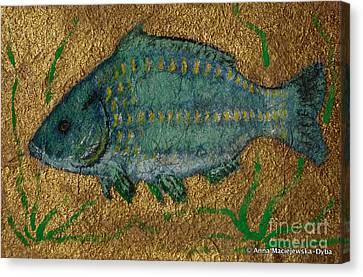Turquoise Carp Canvas Print