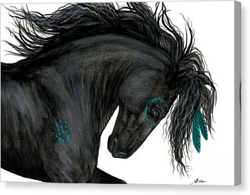Turquoise Dreamer Horse Canvas Print by AmyLyn Bihrle
