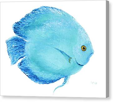 Tropical Fish Canvas Print - Turquoise Fish Painting by Jan Matson