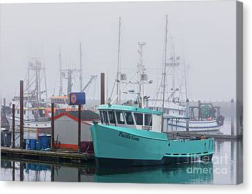 Turquoise Fishing Boat Canvas Print by Jerry Fornarotto