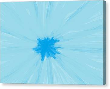 Turquoise Flower Abstract Canvas Print by Linda Velasquez