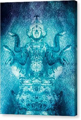 Turquoise Goddess Canvas Print by Heather Joyce Morrill