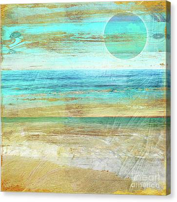 Turquoise Moon Day Canvas Print by Mindy Sommers