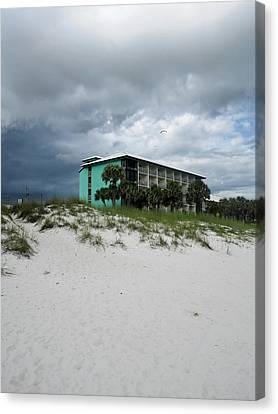 Turquoise On The Beach Canvas Print by Tony Grider