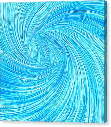 Turquoise Rays Canvas Print