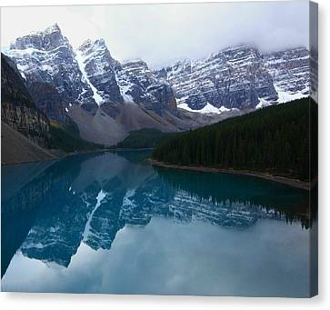 Turquoise Reflection At Moraine Lake Canvas Print by Jetson Nguyen