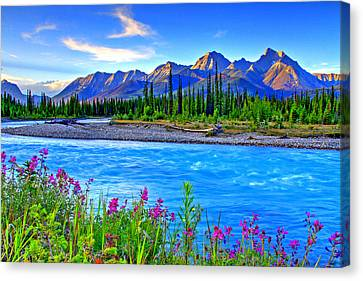 Turquoise River Canvas Print by Scott Mahon