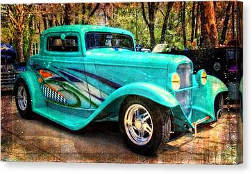 Turquoise Hot Rod  Canvas Print