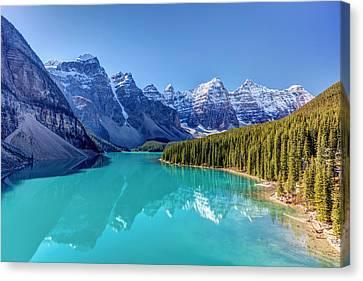 Turquoise Splendor Moraine Lake Canvas Print