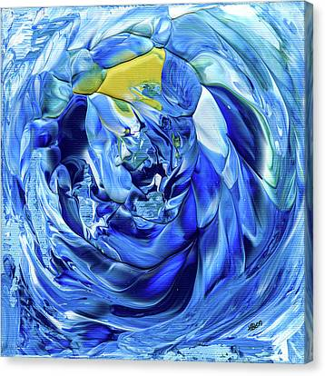 Turquoise Swirl Canvas Print
