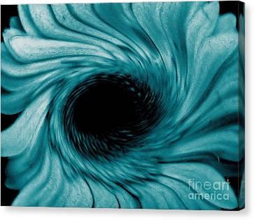 Turquoise Tornado Canvas Print by Marsha Heiken