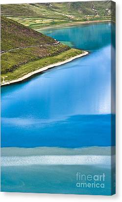 Turquoise Water Canvas Print by Hitendra SINKAR