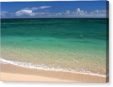 Turquoise Water Of Kanaha Beach Maui Hawaii Canvas Print by Pierre Leclerc Photography