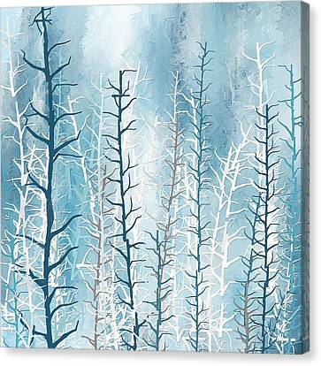 Turquoise Winter Canvas Print by Lourry Legarde